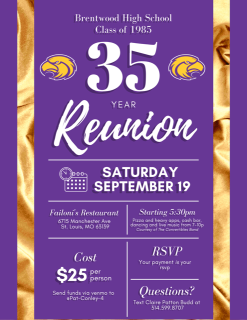 Class of 85 35th Reunion